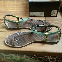Bottega Veneta Toe Ring/ Flat Sandals/ Blue Green/ Size 41/11/ Used as Is Photo