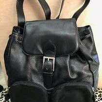 Bottega Veneta Vintage Black Leather Backpack Photo