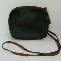 Bottega Veneta Vintage Purse Black & Brown Cross-Body Creel Bag Italy 1980s Photo