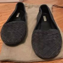 Bottega Veneta Women Intrecciato Suede Slipper Flats Sz 37 Photo