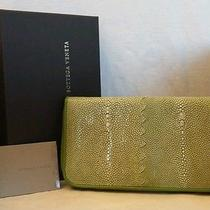 Bottega Veneta Women Italy Sting Ray Zip Front Wallet One of Kindeuroparis Photo