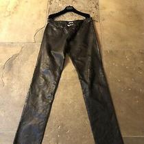 Bottega Veneta Womens Black Leather Trousers Italian Size 42. New Without Tags Photo
