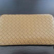 Bottega Veneta Woven Intrecciato Leather Zip Around Wallet 100% Genuine Photo