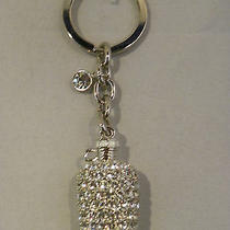 Bottle Jug Key Chain With Swarovski Crystal Rhinestones Palladium Plated Photo