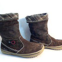 Bouncy & Fun Pair of Timberland Brown Knit & Suede Mukluk Boots 9.5 Photo
