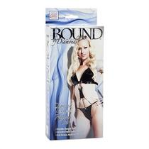 Bound by Diamonds - Black Diamond G-String Combo Teddy W/ Ribbon Ties - One Size Photo