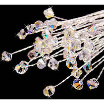 Bouquet Jewelry Swarovski Crystal Ab Irridescent Set of 6 Bridal Bouquet Jewelry Photo