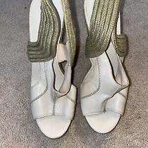 Boutique 9 Beige Raffia Wedges Sz 9.5 Photo