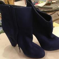 Boutique 9 Blue Suede  Leather Designer Ankle Platform Boots 6 Photo