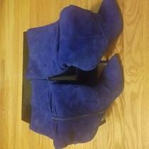 Boutique 9 Blue Suede Slouch Boots Suede Zipper Stiletto Women 9.5 Photo