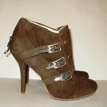 Boutique 9 Bootie With Back Zipper Brown Stilleto Womans Size 10 Medium Photo