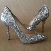 Boutique 9 by Nine West Sally Womens Silver/grey Sparkle High Heels Size 9 Photo