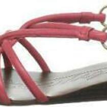 Boutique 9 Garima Womens Wedge Slingbacks Sandals Shoe Sz 10 M Pink Leather 1