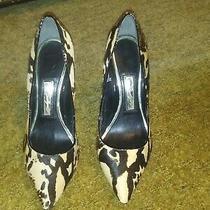 Boutique 9 Heel Pump Leopard Fur Print (Preowned) Size 8 Photo