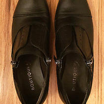 Boutique 9 Modern Black Leather Side Zip Oxfords Photo