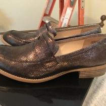 Boutique 9 Shoes Women Flat Penny Loafers Metallic Size 7.5 Photo