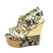 Boutique 9 Snake Print Platform Wedge Sandals Womens Size 8 Photo