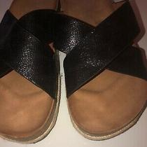 Boutique by Corkys Dolphin Womens Sz 9  Sandals Black  Metallic X Strap Photo
