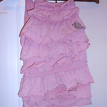 Boutique Dkny Sun Dress Pink 3t Tier Ruffle Cotton Eye Hole Mother Pearl Column Photo