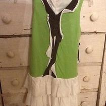 Boutique Isobella and Chloe Size 12 Nwt Green White Dress Photo