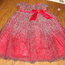 Boutique Isobella & Chloe 3t Gorgeous Red Silver White Dress Photo