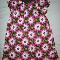 Boutique Mini Boden 9 10 Girl Dress Brown Flower Floral Purple Green Pockets Bow Photo