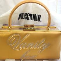 Boutique Moschino Purple/gold Metallic Vanity Box Clutch - Sold Out Photo