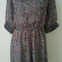 Boutique Polka Dot Semi Sheer Vintage 50s Print Anthropologie Dress Sz S M 4 6 Photo