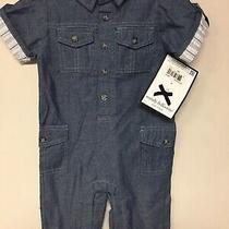 Boutique Wendy Bellissimo Baby Boys One Piece Jean Romper Size 9 Mths Nwt  Photo