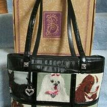 Boxed Vintage Brighton Purse Tote Tapestry Needlepoint Different Dog Breeds Photo