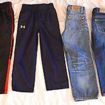 Boy 4/5 Lot 55 Pc Pants Jackets Sweater Shirts Nike Under Armour Gap 7 Mankind Photo