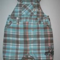 Boy 6 Mos. Disney Classic Pooh Aqua Plaid Short Overalls Photo