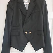 Boy. by Band of Outsiders Crop Cutaway Navy Blazer Size 4 Photo