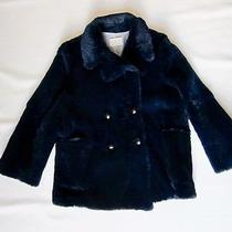 Boy by Band of Outsiders Navy Rabbit Fur Jacket Size 4 Photo