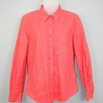 Boy. by Band of Outsiders Women Orange Heavyweight Cotton Button Easy Shirt 3 Photo