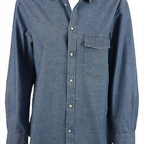 Boy. by Band of Outsiders Womens Blue Chambray Western Button Shirt 3 355 New Photo