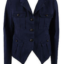 Boy. by Band of Outsiders Womens Navy Blue Pocket Miltary Jacket 3 685 New Photo