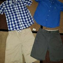 Boy Lot 6-7 Old Navy Gap Shorts Ralph Lauren Short Sleeve Button Down Shirt Blue Photo