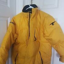 Boy's 10 L Large Yellow Gap Puffer Winter Coat Photo