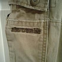 Boy's Abercrombie Kids Brown Draw String Slim Fit Cargo Pants Size 14  14 Slim  Photo