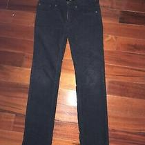 Boys Burberry Pants Corduroy Black Size 10  Slim Photo
