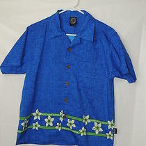 Boy's Button Up Short Sleeve One Pocket Shirt Hawaiian by Maui and Sons Photo