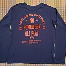 Boy's Gap Kids Blue Gamer Long Sleeve Pj/sleep Shirt Size 14 Photo