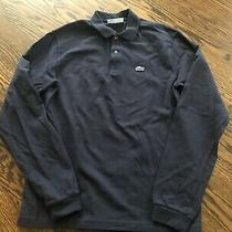 Boy's Lacoste Navy Blue Polo Shirt - Size 16 Photo