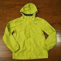 Boy's the North Face Yellow Rain Jacket Size Medium 10-12 Photo