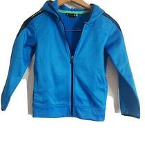 Boys Under Armour Blue Full Zip Hoodie Jacket Size 7  Photo