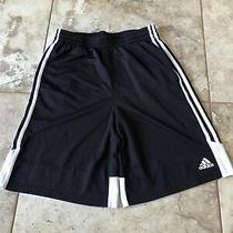 Boys Youth Adidas Basketball Athletic Running Shorts Black White Xl 18/20 Photo