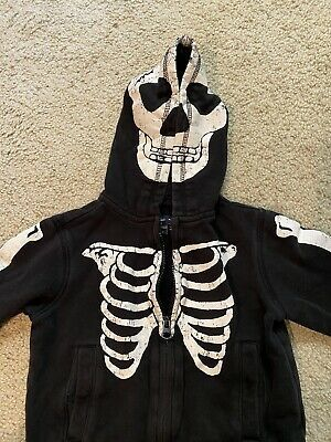 Boys 2T Baby Gap Halloween Skeleton Hoodie Zipper Sweatshirt Photo