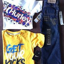 Boys 3t Clothes Nike Hurley Dkny T-Shirts Jeans Nwt Kids 3pc Set Toddler Outfit Photo