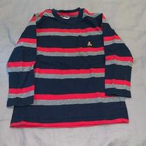 Boys 4t Long Sleeve Pocket T-Shirt by Baby Gap Navy Blue Red & Grey Photo